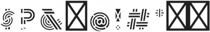 Leutner Fill otf (400) Font OTHER CHARS