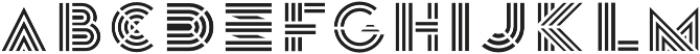 Leutner Fill otf (400) Font LOWERCASE