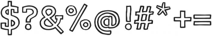 LevSerif Handline otf (400) Font OTHER CHARS