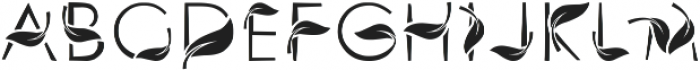 leafy otf (400) Font UPPERCASE