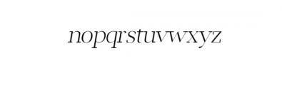 Leslie-extra-bold-italic.otf Font LOWERCASE