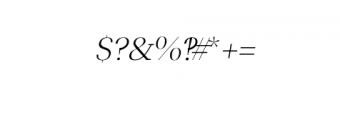 Leslie-light-italic.otf Font OTHER CHARS