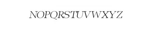 Leslie-light-italic.otf Font UPPERCASE