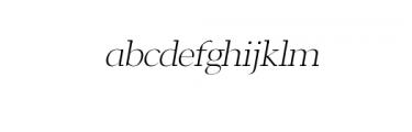 Leslie-light-italic.otf Font LOWERCASE