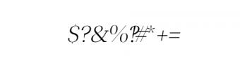 Leslie-light-italic.ttf Font OTHER CHARS
