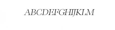 Leslie-light-italic.ttf Font UPPERCASE