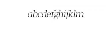 Leslie-light-italic.ttf Font LOWERCASE