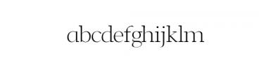 Leslie-light.otf Font LOWERCASE