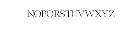 Leslie-light.ttf Font UPPERCASE