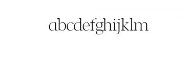 Leslie-light.ttf Font LOWERCASE