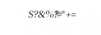 Leslie-regular-italic.ttf Font OTHER CHARS