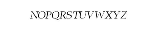 Leslie-regular-italic.ttf Font UPPERCASE