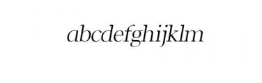 Leslie-regular-italic.ttf Font LOWERCASE