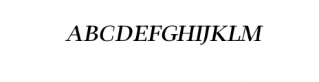 Leslie-semi-bold-italic.otf Font UPPERCASE