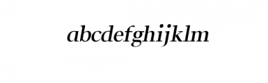Leslie-semi-bold-italic.otf Font LOWERCASE