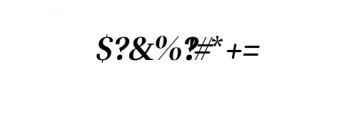Leslie-semi-bold-italic.ttf Font OTHER CHARS
