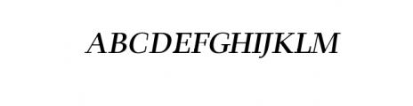 Leslie-semi-bold-italic.ttf Font UPPERCASE