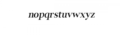 Leslie-semi-bold-italic.ttf Font LOWERCASE