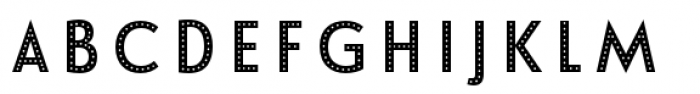 Le Havre Layers Dotted Reverse Font UPPERCASE