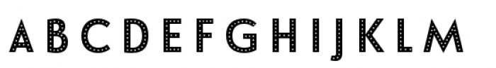 Le Havre Layers Dotted Reverse Font LOWERCASE