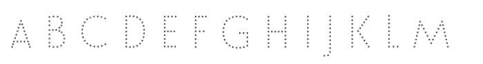 Le Havre Layers Dotted Font UPPERCASE