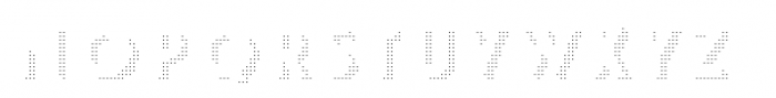Le Havre Layers Shadow Dotted Font LOWERCASE
