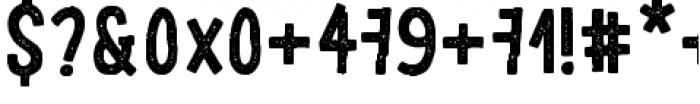LeOsler Stamp Regular Font OTHER CHARS