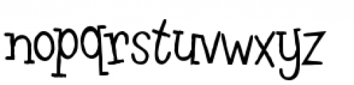 Leftovers Font LOWERCASE