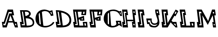 LEADvilleASTROnaut Inline Font UPPERCASE