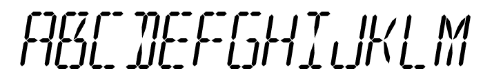 LED 16 Segment 2 Italic Font UPPERCASE