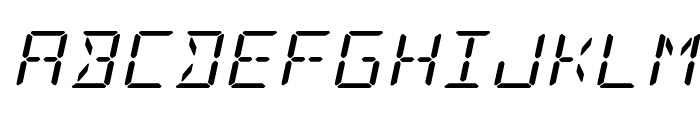 LED Sled Expanded Italic Font UPPERCASE