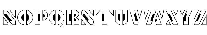 Le Pochoir Creux Font LOWERCASE