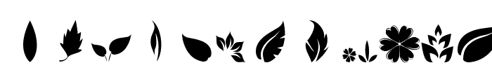 Leafs Font UPPERCASE