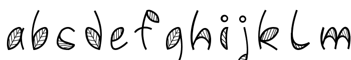 Leafy font Font LOWERCASE