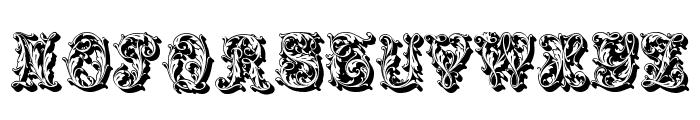 Leafyshade Font UPPERCASE