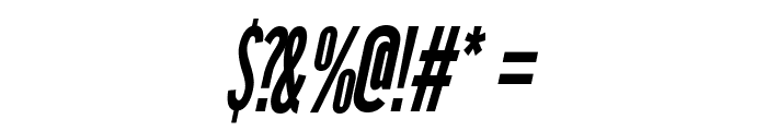 League Gothic Condensed Italic Regular Font OTHER CHARS