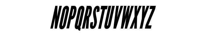 League Gothic Condensed Italic Regular Font UPPERCASE