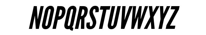 League Gothic Italic Regular Font UPPERCASE