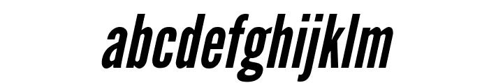 League Gothic Italic Regular Font LOWERCASE