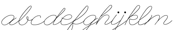 League Script Thin League Script Font LOWERCASE