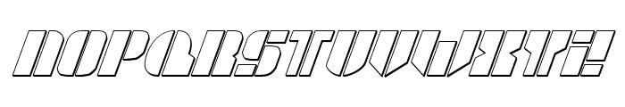 League Wars 3D Italic Font UPPERCASE
