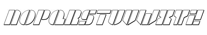 League Wars 3D Italic Font LOWERCASE
