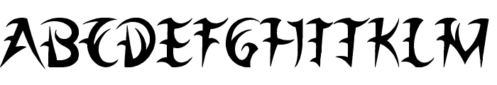 League of Ages Font LOWERCASE