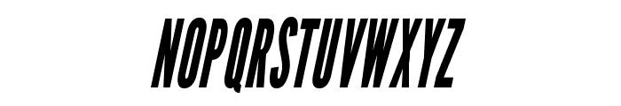 LeagueGothic-CondensedItalic Font UPPERCASE