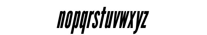 LeagueGothic-CondensedItalic Font LOWERCASE