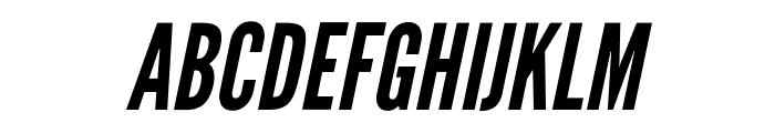 LeagueGothic-Italic Font UPPERCASE