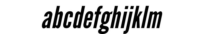 LeagueGothic-Italic Font LOWERCASE