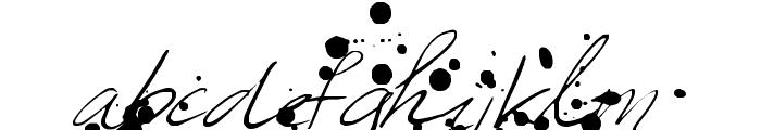 Leakage Font LOWERCASE