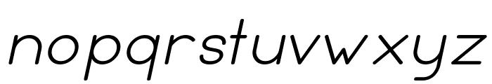 Leal italic Font LOWERCASE