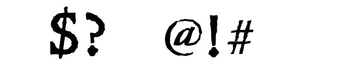 Leander Font OTHER CHARS